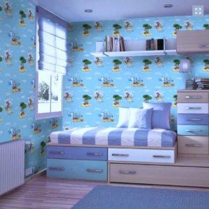 ταπετσαρια τοιχου παιδικη ζωακια 46001D