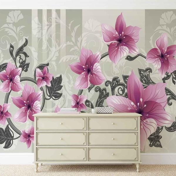 φωτοταπετσαρια τοιχου λουλουδια 1204