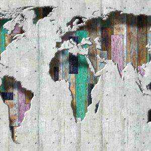 φωτοταπετσαρια 3D παγκοσμιος χαρτης 3134