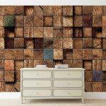 φωτοταπετσαρια τοιχου ξυλινοι κυβοι 3163