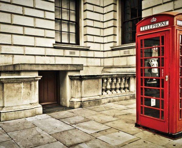 φωτοταπετσαρια τοιχου Λονδινο κοκκινος θαλαμος 1910