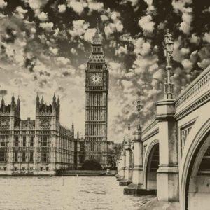 φωτοταπετσαρια τοιχου Λονδινο ασπρομαυρο 845