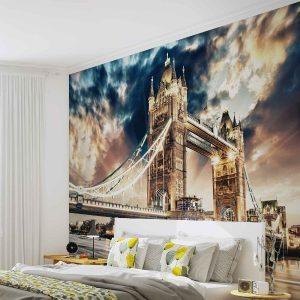 φωτοταπετσαρια τοιχου συννεφιασμενο Λονδινο 846