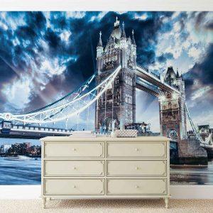 φωτοταπετσαρια τοιχου συννεφιασμενο Λονδινο 847