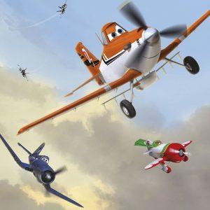 παιδικη φωτοταπετσαρια αεροπλανα planes 4-452