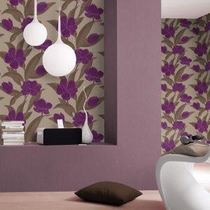 Ταπετσαρια τοιχου  λουλουδια 788129δ