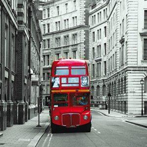 φωτοταπετσαρια κοκκινο λεωφορειο 1-0814