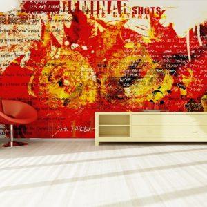 φωτοταπετσαρια τοιχου φλογες 4-0179