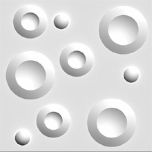 3D πανελ πολυστερινης κυκλοι 7-014