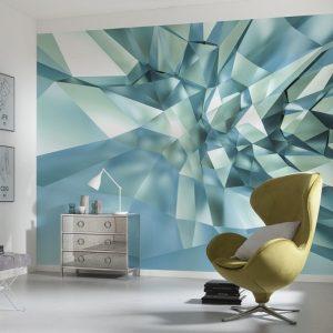 φωτοταπετσαρια τοιχου 3D κρυσταλλα 8-879