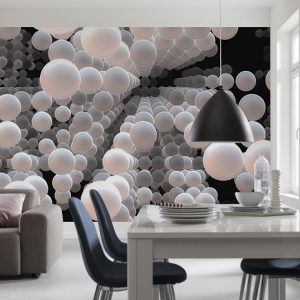 φωτοταπετσαρια τοιχου 3D σφαιρες 8-880