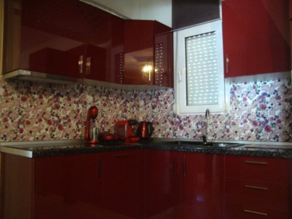 3D PVC panel κουζινας λουλουδια 4201