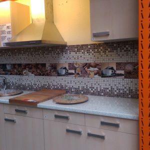 3D PVC panel κουζινας καφε 4508