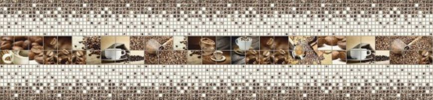 3D PVC panel κουζινας καφες 4508