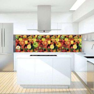 3D PVC panel κουζινας φρουτα 4607