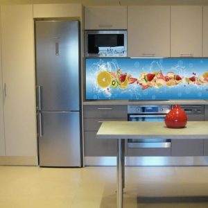 3D PVC panel κουζινας φρουτα 4683