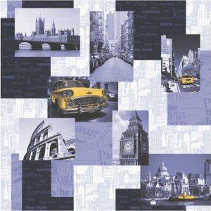 ταπετσαρια τοιχου πολεις 36501