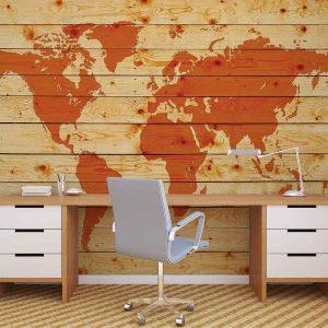φωτοταπετσαρια παγκοσμιος χαρτης σε ξυλο 1971d