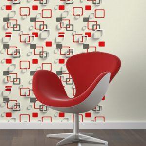 ταπετσαρια τοιχου 3D τετραγωνα 96906d