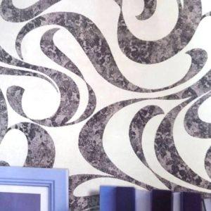 ταπετσαρια τοιχου αφηρημενο σχεδιο 7540-3d