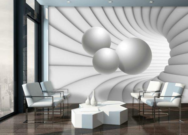 φωτοταπετσαρια 3D σφαιρες σε δινη 10141