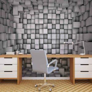 φωτοταπετσαρια τοιχου 3D κυβοι 2505