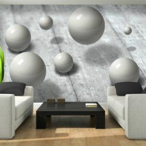 φωτοταπετσαρια τοιχου 3D σφαιρες 3014