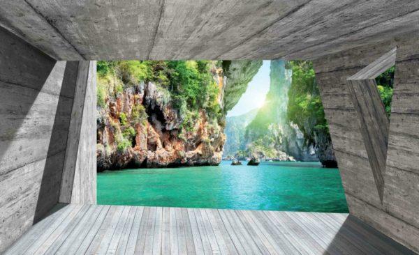 φωτοταπετσαρια τοιχου λιμνη 3141