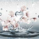 φωτοταπετσαρια τοιχου 3D λουλουδια 3491
