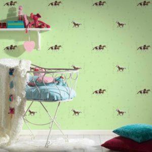 παιδικη ταπετσαρια αλογακια 35837-1