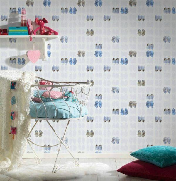 παιδικη ταπετσαρια παπουτσακια 35862-2
