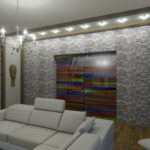 3D PVC panel πετρα 0210