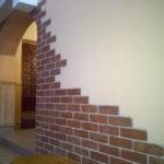 3D PVC panel τουβλακι 0296