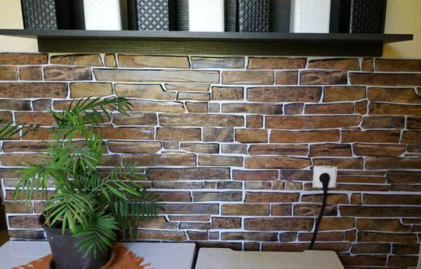 3D PVC panel πετρα 3914