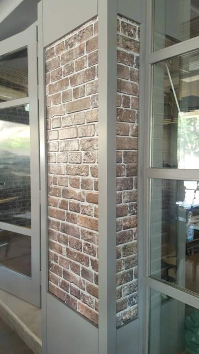 3D PVC panel τουβλακι 5994