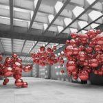 φωτοταπετσαρια τοιχου 3D σφαιρες 10135