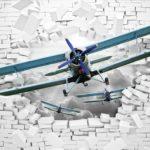 φωτοταπετσαρια τοιχου αεροπλανο 10407