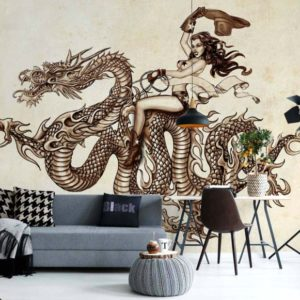 φωτοταπετσαρια τοιχου δρακος 1345
