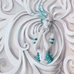 φωτοταπετσαρια τοιχου 3D αγαλμα 3045