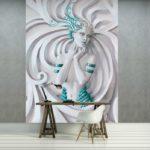 φωτοταπετσαρια τοιχου 3D αγαλμα 3045A