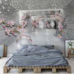 φωτοταπετσαρια τοιχου 3D λουλουδια 3360