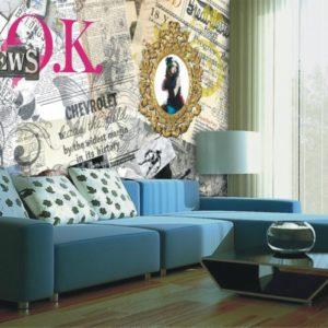 φωτοταπετσαρια τοιχου εφημεριδα 4-0305