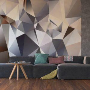 φωτοταπετσαρια τοιχου 3D πολυγωνα 4-1212