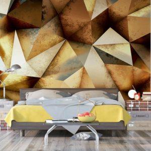 φωτοταπετσαρια τοιχου 3D πολυγωνα 4-1221