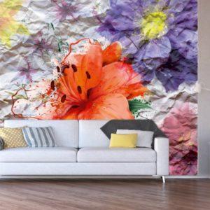 φωτοταπετσαρια τοιχου λουλουδια 4-1223