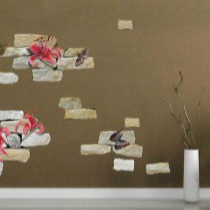 αυτοκολλητο τοιχου πεταλουδες 1021