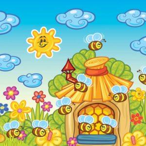 παιδικη φωτοταπετσαρια μελισσες 10008