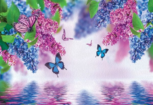 φωτοταπετσαρια λουλουδια και πεταλουδες 1533