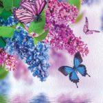 φωτοταπετσαρια λουλουδια και πεταλουδες 1533A