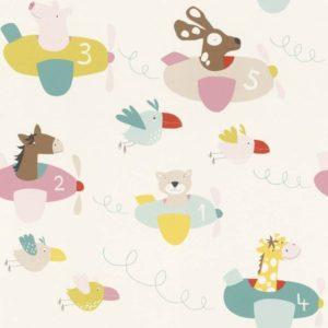 ταπετσαρια τοιχου παιδικη ζωακια 249064